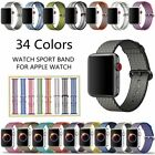 Sports Woven Nylon Wrist Band Strap For Apple Watch 40/44mm Series4 321 38/42mm image