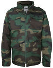 Combat Men's Heavyweight Tactical Quilted Camo Hunting Jacket with Stowable Hood