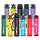 Sports Water Bottle BPA Free Plastic Running Drinks For Adults & Kids 500ml & 1L