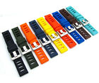 Silicone Watch Strap ISO Ladder Style 20mm 22mm 24mm 9 Colours Free Pins C087