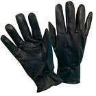 DORFMAN PACIFIC MEN'S LAMBSKIN BLACK LEATHER THINSULATE ISOLANT GLOVES (G17)