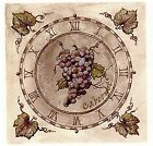 Cabernet Wine Grape Clock Square Select-A-Size Waterslide Ceramic Decals Xx  image