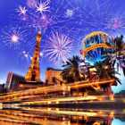 Firework Tower Sky Light Highway Photography Backdrop Printed Background HXB-843