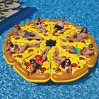 Giant Pizza Inflatable Floats,Swimming Pool,Floating Bed in Yellow,1/3/8 Pieces