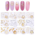 Harunouta 12 Sizes/Box Nail Studs Metal Color Gold Mix Sized 3D Nail Decoration