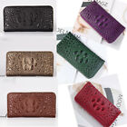 Crocodile Pattern Women Leather Clutch Long Wallet PU Card Holder Purse Handbag image