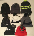 Nike Cuff Beanie Pom Hats Knit New Tags Black Red White Blue Limited Quantity
