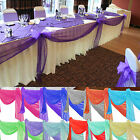 5/10m Sheer Organza Table Stair Swags Fabric for Wedding Party DIY Bows Decor