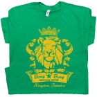 Reggae Bar T Shirt Cool Famous Marijuana Rasta Lion Bob Vintage Men Women Marley image
