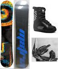 """NEW M8TRIX """"BLACKOUT"""" SNOWBOARD, BINDINGS, BOOTS PACKAGE - 157cm Wide"""