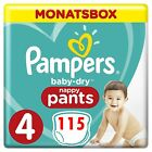 Pampers Baby-Dry nappy Pants, Windeln  Monatsbox, Größe Gr   4   5   6