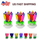 Kyпить Musical Birthday Cake Candle Lotus Flower Floral Rotating candle  на еВаy.соm