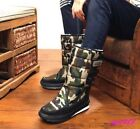 Warm Womens Waterproof Ankle Boot Thicken Camouflage Winter Snow Shoes Booties