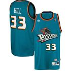 Grant Hill #33 Detroit Pistons Classic Teal Throwback Swingman NBA Jersey NEW on eBay