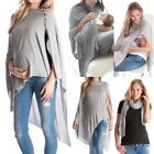 Women Maternity Pregnant Solid Long Sleeve T-shirt Breastfeeding Top Tee Clothes