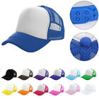 Snapback Trucker Baseball Golf Visor Cap Plain Hat Men Unisex Mesh Adjustable AU