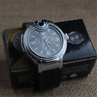 Fashion Men Military Cigarette Cigar Lighter Quartz Refillable Wrist Watches #