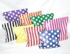 Paper Candy Striped Sweet Bags -Colour Wedding Favour Birthday Loot Treats Party