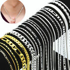 Wholesale 925 Sterling Silver Chain Women Men Necklace 16''-28'' New Lot Jewelry