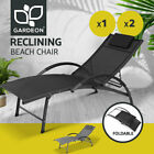 Gardeon Outdoor Sun Lounge Beach Chair Folding Recliner Garden Patio Furniture