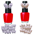 Butterfly Display Ring Pops Nail Polish Bottle Top Natural Clear Clip On