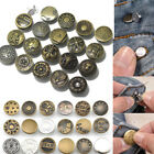 Внешний вид - 50 Sets No Sew Mixed Style Replacement Metal Studs Jean Pants Buttons 20mm