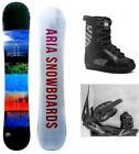 """NEW ARIA """"ACCENT"""" SNOWBOARD, BINDINGS, BOOTS PACKAGE - 157cm"""