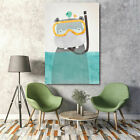 Home Decor Oil Painting Cartoon Animal Canvas Art Print Wall Picture Modern Gift