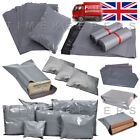 Grey Mailing Postal Bags Strong Post Mail Poly Postage Self Seal All Sizes Cheap