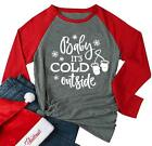 YUYUEYUE Baby It's Cold Outside Christmas Holiday Snowman Shirt Women Funny