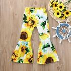 Children Kids Baby Girls Floral Flare Long Pants Bell Bottoms Trousers Clothes