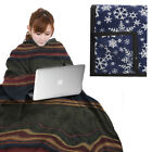 Hot Headz Slumber Fleece Wearable Zippered Body Wrap & Sleeves Blanket Women Men image