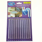 12/60Pack Sani Sticks Keep Drain And Pipes Clear And Odor As Seen On TV Cleaning
