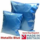 Blue Metallic Mailing Postal Plastic Strong Mail Bags 3 Sizes Self Seal Strip
