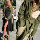 JOSEPH UK Fashion Marcus Luxe Double Wool Chic Coat In Military $1525 NEW