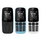 Nokia 105 SIM-Free Mobile Phone Latest Edition - Unlocked - Black Blue White