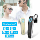 Wireless Bluetooth4.1 Noise Cancelling Handsfree Trucker Headset Earpiece Earbud