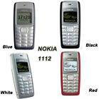 Nokia 1112 Cell Phones White Black Blue Red Unlock Bluetooth Mobile Classic Pho