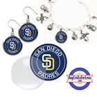 FREE DESIGN > SAN DIEGO PADRES -Earrings, Pendant, Bracelet, Charm <FAST SHIP> on Ebay