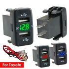 12-24V Dual USB Car Charger Socket Voltmeter 4.2A Power Adapter Fit to Toyota on eBay