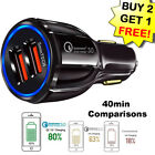 Fast Quick CAR Charger(3 ports)USB (16W / 5,9,12V / 3.2A) for Android or iPhone