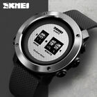 SKMEI Trendy Men Casual Sports Wristwatch PU Strap Creative Quartz Watch 1486 1 image
