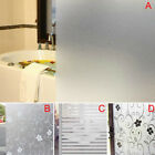Frosted Cover Glass Window Floral Flower Sticker Film Office Door 60x200cm
