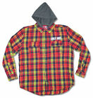 Guns N Roses Cross Hooded Flannel Button Down Shirt Hoodie New Official