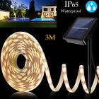 3m Solar Powered 180led Light Strip Ip65 Romantic Decoration Fairy Light String