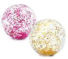 Intex Wasserball transparent Glitzer pink oder gold Strandball Glitter Ball