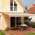 Outsunny Outdoor 8'x7' Patio Awning Sun Shade Canopy Shelter Manual Retractable