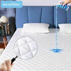 Cooling Quilted Mattress Pad Waterproof Fitted 16'' Deep Pocket Mattress Cover image
