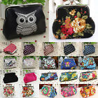 Ladies Girl Casual Clutch Change Coin Purse Bag Small Mini Floral Wallet Handbag image
