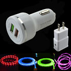 LED Light USBC Cable Car Wall Charger For Samsung Galaxy S10+S10E Note9 8 S8 S9+